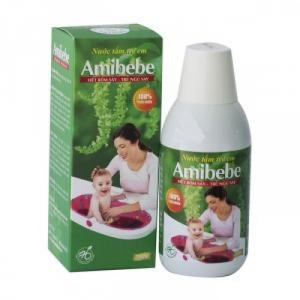 Bán sản phẩm nước tắm em bé AMIBEBE- giúp bé hết rôm say, ăn ngủ tốt