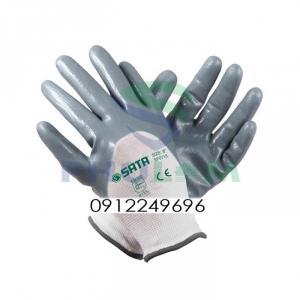 Găng tay polyester phủ nitril chống dầu