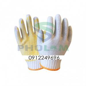 Găng tay sợi len phủ hạt nhựa