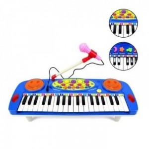 Đàn organ điện tử kèm micro cho bé mẫu mới là dụng cụ hữu ích cho bé trong những ngày đầu làm quen với âm nhạc hoặc mới học đàn organ.