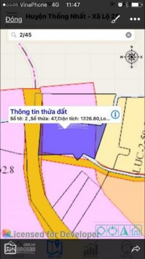 Cần bán gấp đất 2 mặt tiền đường nhựa xã Lộ 25, Thống Nhất, Đồng Nai, liên hệ ngay