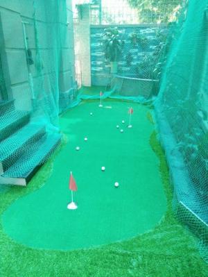 Thiết kế thi công sân golf mini , cỏ golf nhân tạo