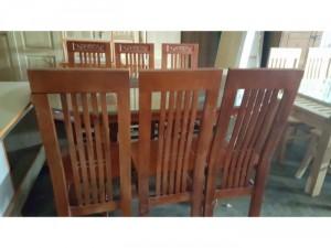 Bộ bàn ăn gỗ Sồi màu
