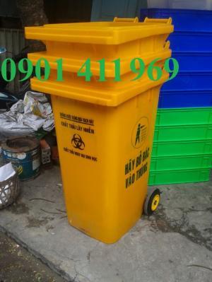 Thùng rác y tế đạp chân 15 lít, 20 lít, 60 lít, thùng rác y tế 120 lít, 240 lít, xe thu gom rác
