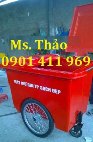 Xe thu gom rác, xe đẩy rác, xe gom rác 3 bánh x, xe thu gom rác giá rẻ