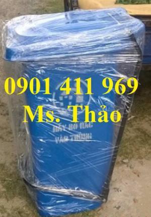 Thùng rác 60 lít, thùng rác 2 bánh xe, thùng đựng rác 60 lít bằng nhựa