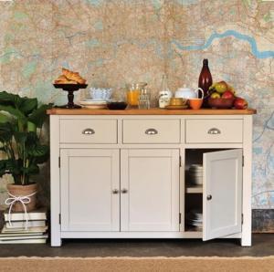 Tủ bếp gỗ sơn trắng thanh lý cuối năm 2017