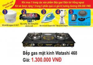 Bếp gas đôi mặt kính WATASHI 468