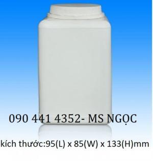 Hủ 1 lít đựng gia vị thực phẩm,chai lọ nhựa đựng hóa chất 250 ml - 2 lít cao nắp vặn