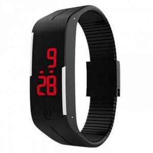 Đồng hồ hiện thị giờ bằng đèn LED, kiêm vòng đeo tay thời trang chất liệu silicon.