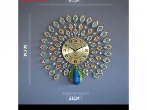 Đồng hồ trang trí Chim Công S301