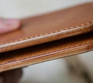 Ví nam da bò handmade dòng tối giản