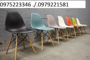 Ghế nhựa chân gỗ hàng nhập giá rẻ