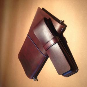 Bao đựng bút da bò Châu ÂU, loại 2 ngăn dạng BOX nắp dài
