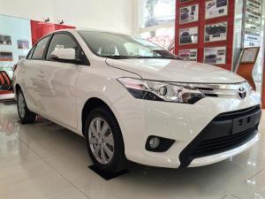 Bán Toyota Vios 1.5E CVT đời 2017, màu trắng, full option, hỗ trợ trả góp lãi suất 0.49%