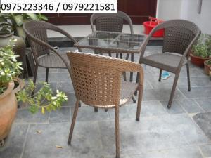 bàn ghế mây nhựa được thiết kế bởi Công Ty Nội thất Hàng chất lượng cao giá cực rẻ