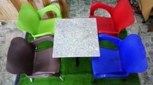 Dòng ghế nhựa đúc thì chất liệu ghế bền ,đẹp mang những màu sắc