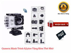 Camera hành trình SJ5600-4K Chống rung tốt, Quay liên tục đến 80 phút + Tặng kèm thẻ nhớ 8GB - MSN181279