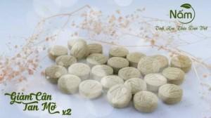 Viên thảo dược giảm cân tan mỡ nấm X2