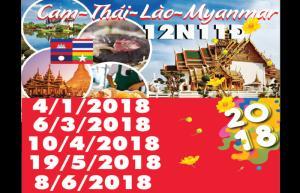 Tour Giá Rẻ Cam - Thái - Lào - Myanmar 12N11D