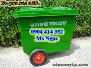 Thùng nhựa đựng rác 660 lít, thùng rác 660 lít, xe gom rác 3 bánh xe ,xe gom rác 4 bánh nhỏ ,.Xe đẩy rác 1000 lít