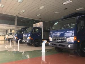 Xe hyundai HD65 hạ tải 1.85 tấn thùng mui bạt