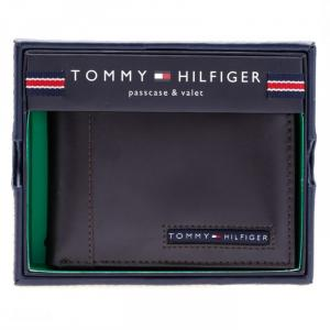 Bóp da Tommy Hilfiger Men's Cambridge Passcase Wallet, Brown