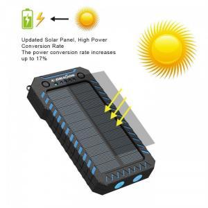 Pin dự phòng năng lượng mặt trời X-DRAGON 15000mAh, có đèn pin, cổng châm thuốc lá