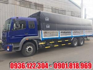 Xe tải Fuso FJ 3 dò 15 tấn thùng mui bạt màu tím