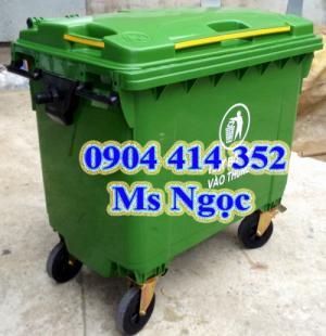 Xe chở rác 1000 lít xe gom rác 3 bánh .Xe đẩy rác 660 lít, xe thu gom rác di động tphcm
