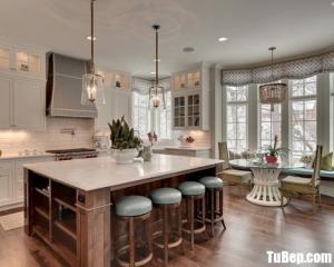 Tủ bếp gỗ Xoan Đào thiết kế chữ L bán cổ điển – TBT72