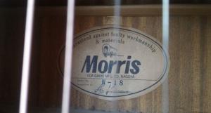 Đàn Guitar Morris  W-18