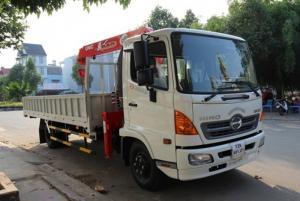 Bán xe tải Hino 7T5/7 tấn 5/ 7,5 tấn gắn cẩu mới 100%- giá tốt giao ngay- tặng ngay 50 triệu đồng.