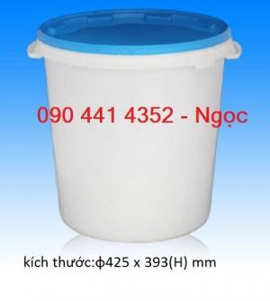 Thùng nhựa 30 lít, vỏ thùng sơn 22 lít, thể tích thùng sơn 18 lít, kích thước thùng sơn 20 lít. Gía vỏ thùng sơn tphcm