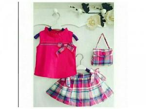 Set bộ váy + túi bé gái