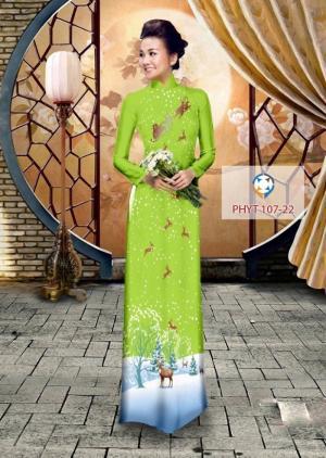Vải may áo dài truyền thống in 3D