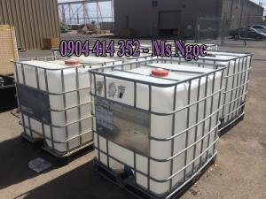 Tank nhựa 1000 lít, thùng vuông 1000 lít màu trắng,gía thùng nhựa đựng hóa chất 1000 lít