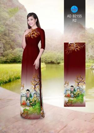 Vải áo dài Đón Xuân AD B2155
