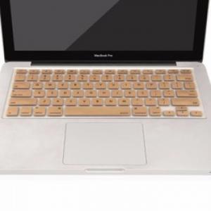 Miếng lót bàn phím in chữ Skin Keyboard for Macbook Air 13 inch Gold