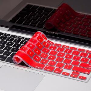 Miếng lót bàn phím in chữ Skin Keyboard for Macbook Air 13 inch Đỏ