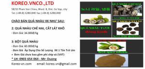 cung cấp nhàu khô xuất khẩu