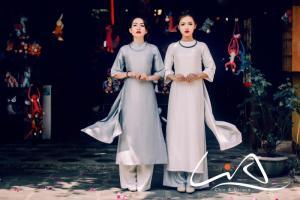 Áo dài cách tân Sài Gòn dự lễ
