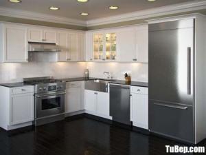 Tủ bếp gam màu trắng chất liệu Tần bì sơn sang trọng – TBN0069
