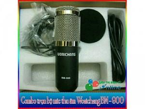Combo Mic Thu Âm Bm-900, Sound Card K10