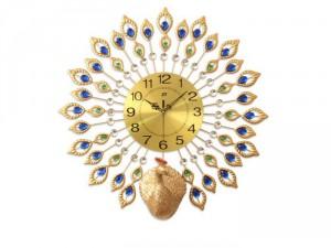 Đồng hồ trang trí Công vàng HL6005A