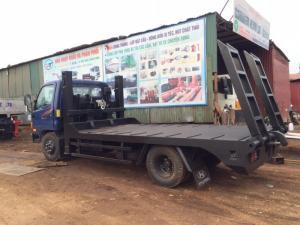 Xe chở máy gặt máy xúc to nhỏ hyundai 6 tấn mới