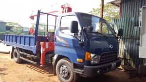 Xe tải hyundai Hd650 gắn cẩu Unic 3 tấn 3 đốt mới