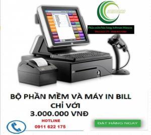 Mua phần mềm tính tiền + tặng máy in hóa đơn k57