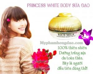 Kem dưỡng thể Sữa Gạo Dưỡng Da Toàn Thân Princess White