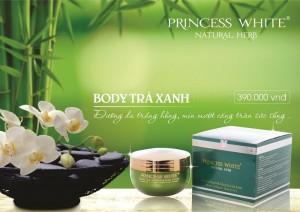 Kem dưỡng trắng da Body Trà Xanh Green Tea Princess White chính hãng